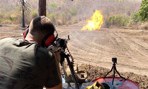 Shooting a Rocket Launcher at a cow (Cambodia) - YouTube
